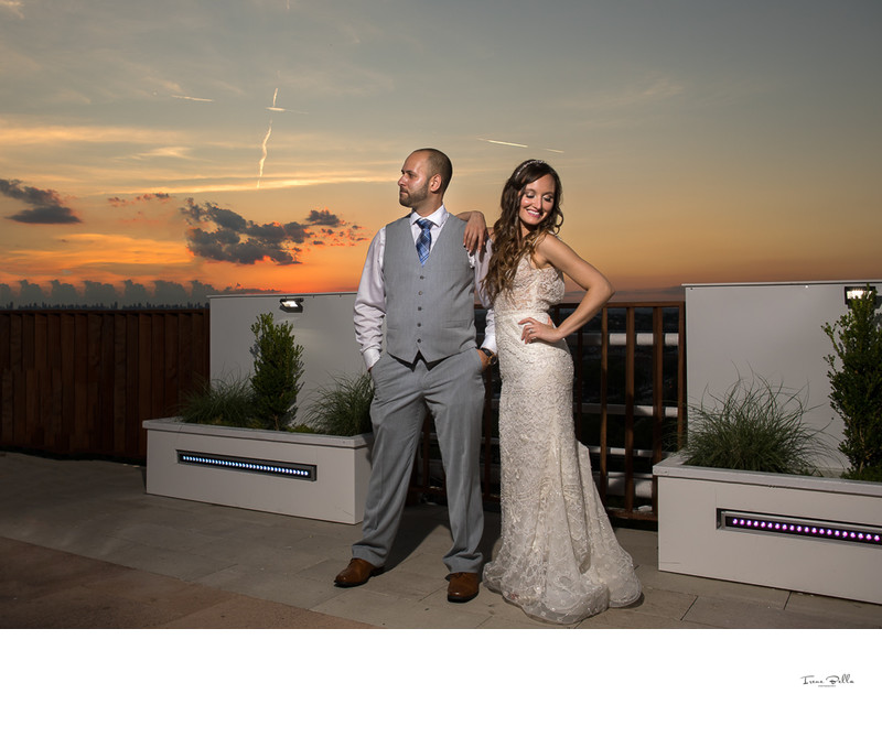 Terrace on the Park Sunset Wedding Photo