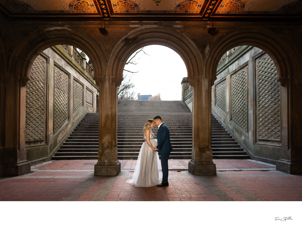 Bethesda Terrace Maternity Photo