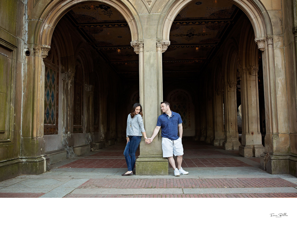 Bethesda Terrace Engagement Photographer