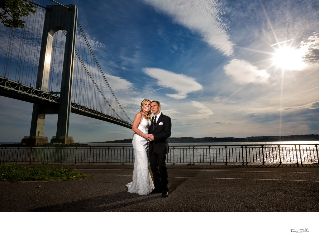 Bride and Groom Verrazano Bridge