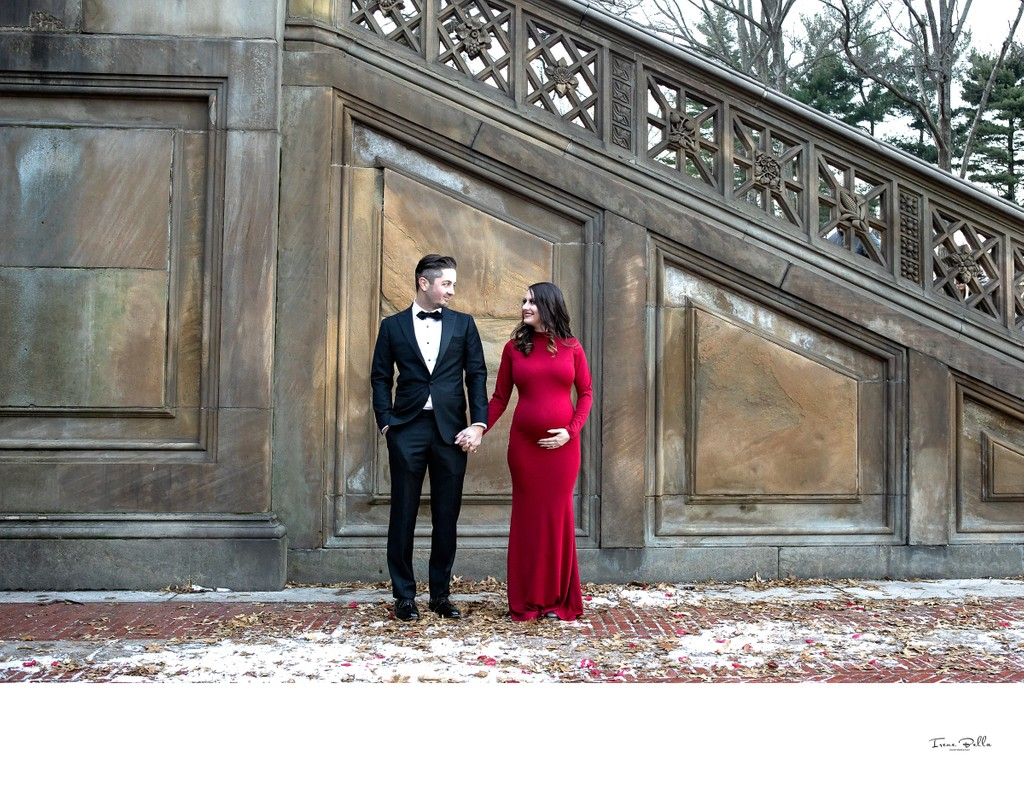 Bethesda Terrace Maternity Photo Ideas
