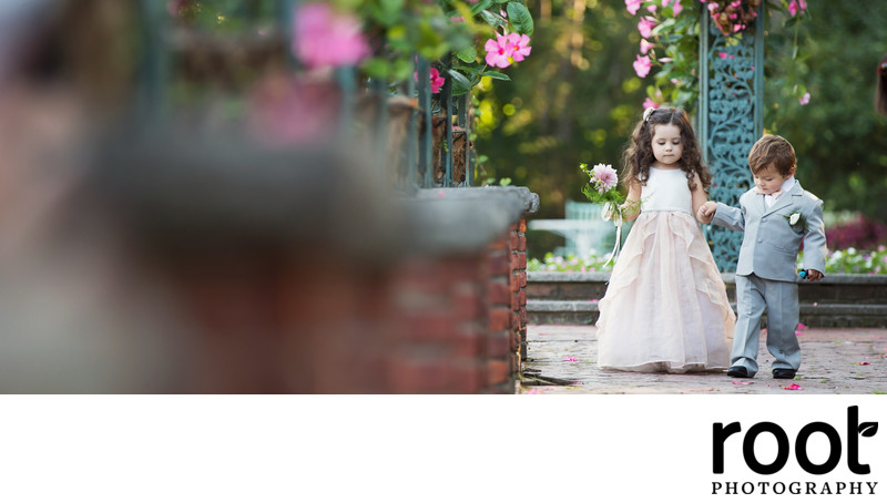 Adorable Flower Girl and Ringer Bearer at The Manor, West Orange NJ