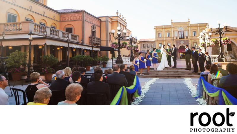 Wedding in Epcot Italy