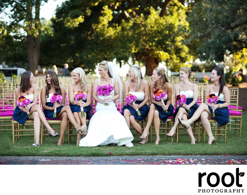 Bridal party at an Isleworth Country Club Wedding