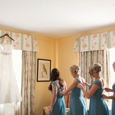 Bridesmaids Getting Ready at The Colony Hotel