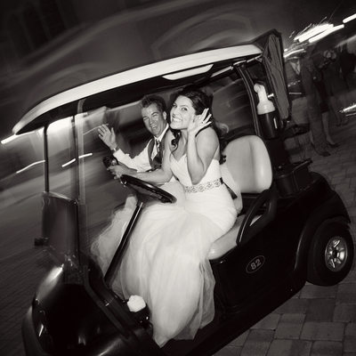 Bride and Groom Exit at Rosen Shingle Creek Wedding