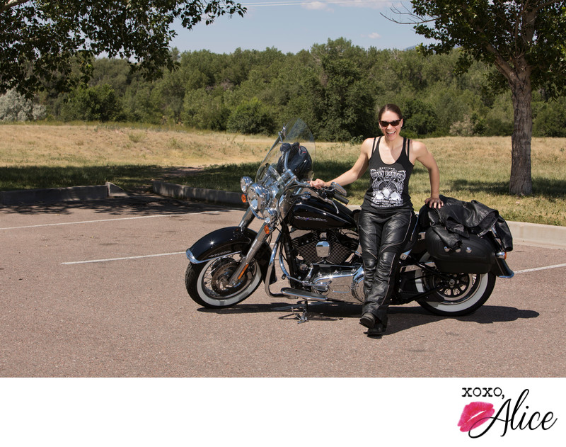 muscles and harley davidson motorcycle photos women