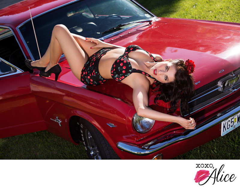 pin-up mustang bathing suit sexy st louis missouri