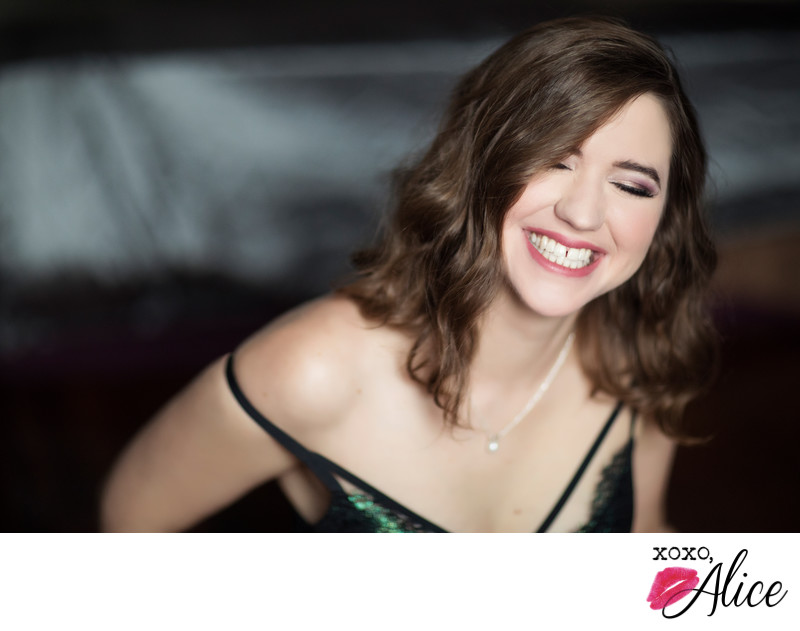 laughter joy portraits lingerie classy boudoir missouri
