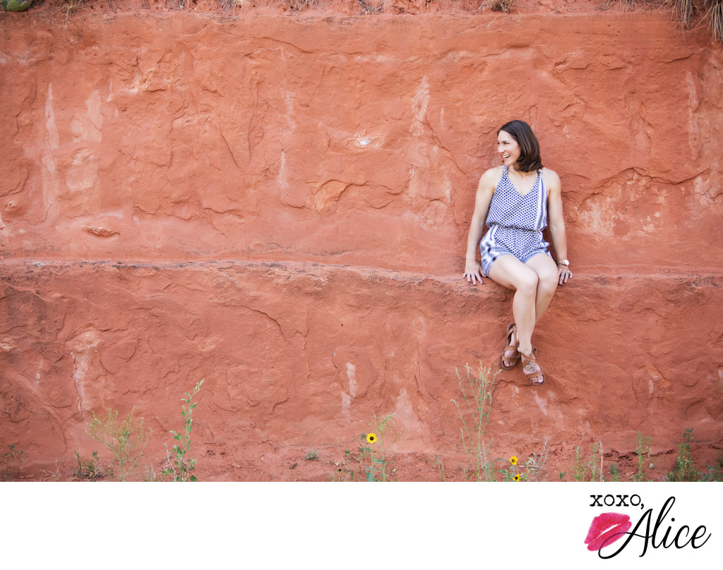 Red Rock Canyon Colorado branding portraits