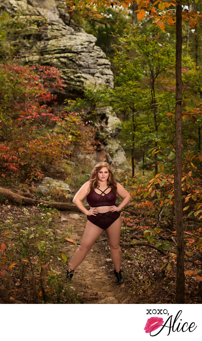 empowered outdoor boudoir feminist portraits
