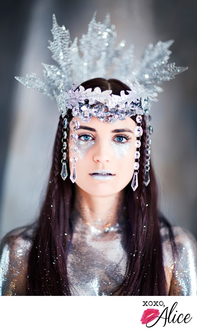 ice queen st louis boudoir fairy queen with headpiece