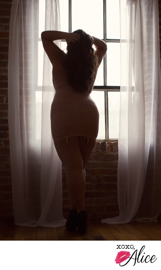 strong sillhouette confident boudoir empowered sexy