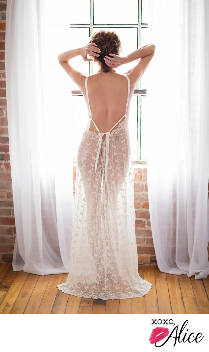 Best Boudoir Photograph in St Louis lace nightgown