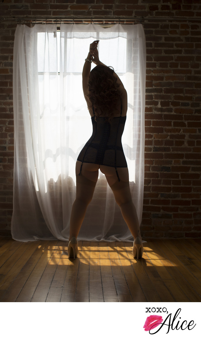 Boudoir Photography in St Louis Missouri moody sillouette