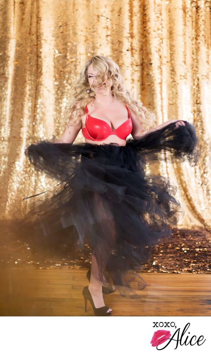 dance boudoir fun photography tulle skirt xoxo alice