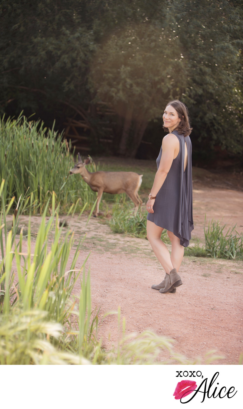 when a deer crashes your portrait session in colorado