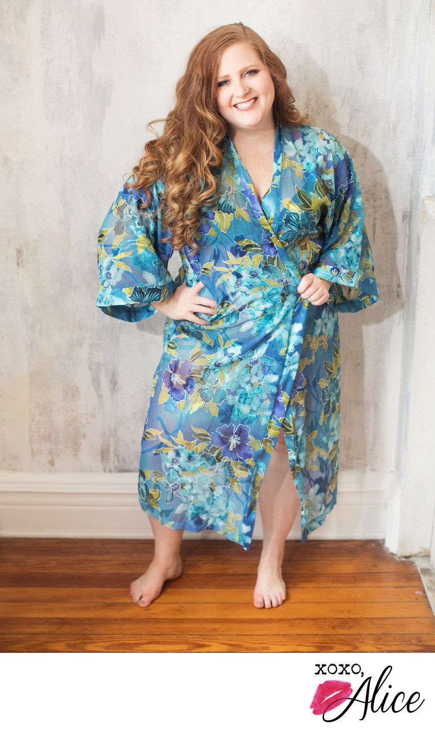 Borrow this beautiful Floral Robe for your glamour shot