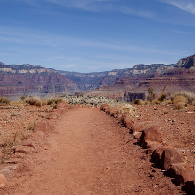 plateau point grand canyon landscape photo path hiking