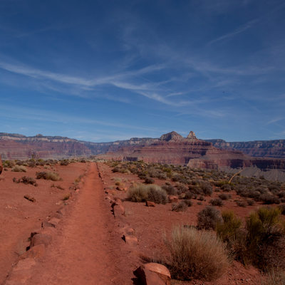 trail to plateau point grand canyon arizona park