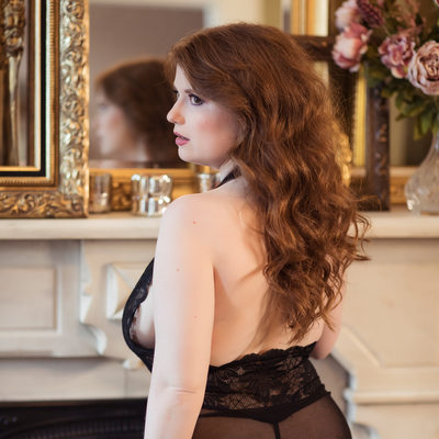 sexy red head boudoir glamour st louis missouri