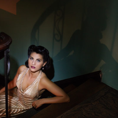 vintage artistic portraits at the thaxton speakeasy