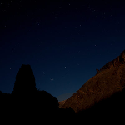 Dark nightscape in grand canyon national park