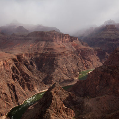colorado river in grand canyon national park tonto