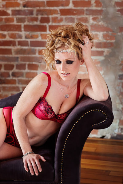 best boudoir photos in st louis red hair and lingerie