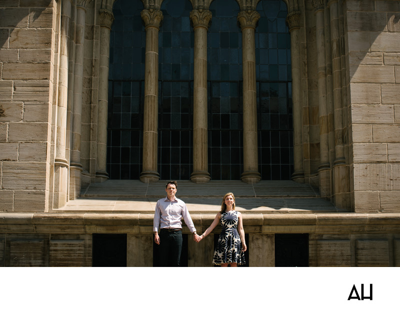 Engagement Photos at Yale University