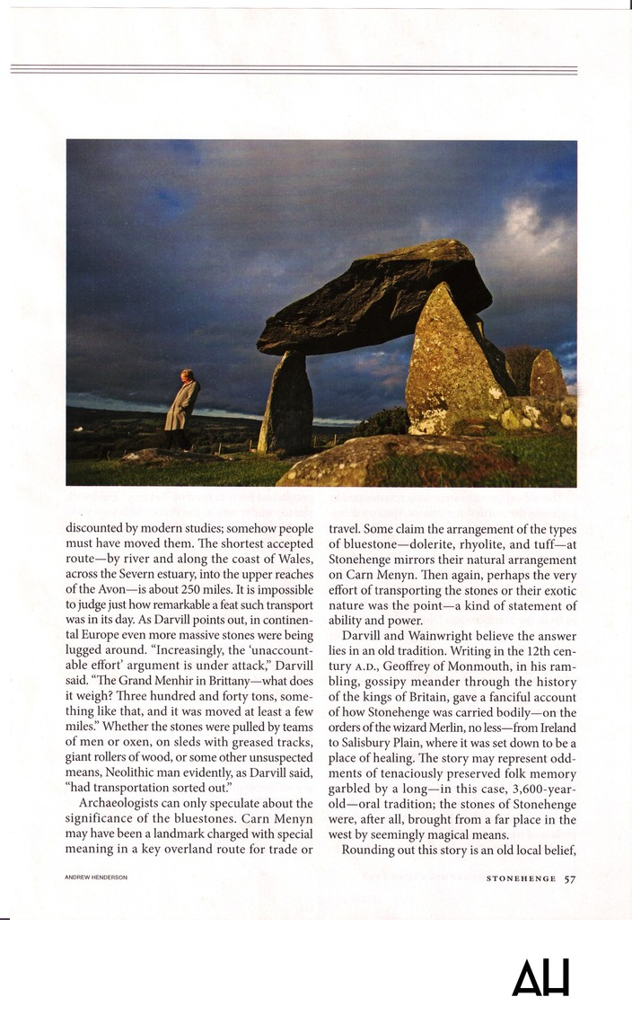 National Geographic Magazine Stonehenge