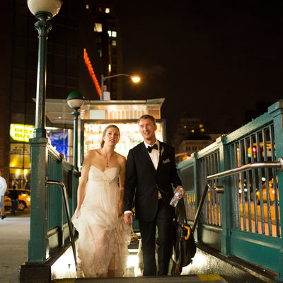 New York Subway Wedding Pictures