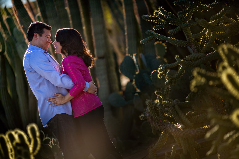 Desert Botanical Gardens Engagement Shoot - Scottsdale Wedding Photographers - Ben and Kelly Photography