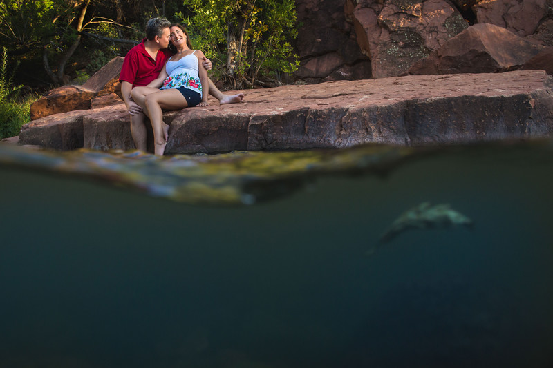 Engagement Photos at Red Rock Crossing in Sedona Arizona - Scottsdale Wedding Photographers - Ben and Kelly Photography