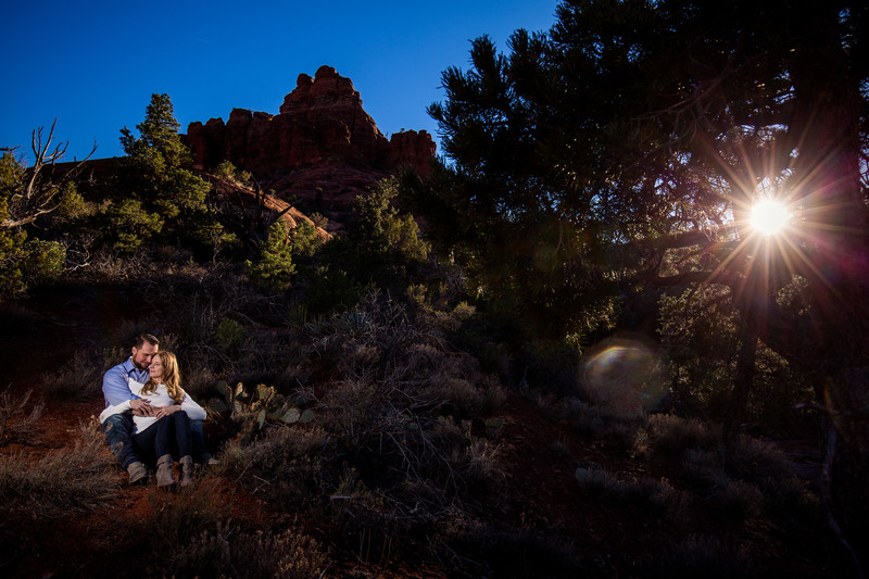 Bell Rock Sedona engagement Photos - Arizona