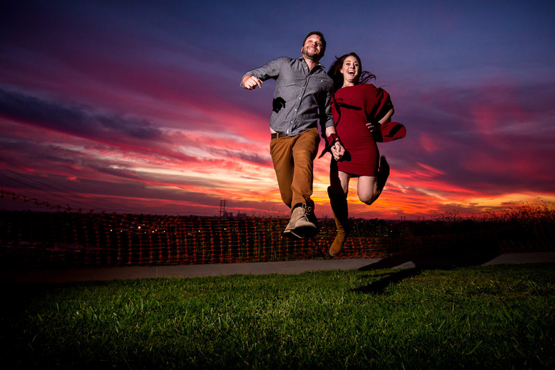 Fun engagement photos in Los Angeles California
