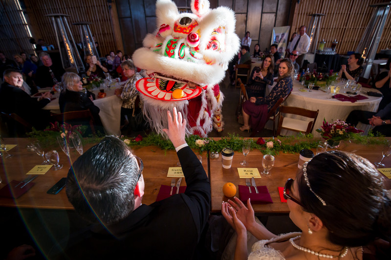 Dragon dance at wedding in Phoenix