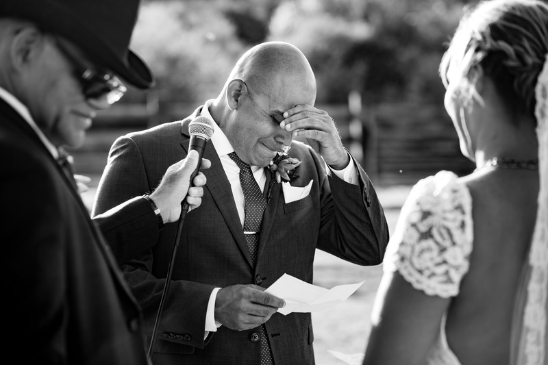 crying groom photo wedding in Scottsdale