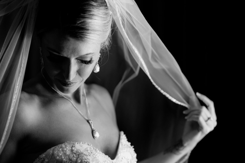 Romantic bridal portrait at a Different Pointe of View