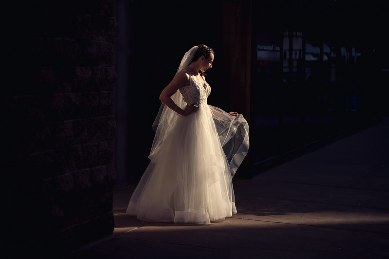 Downtown Phoenix Wedding Bridal Portrait