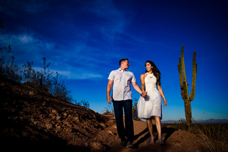 Phoenix engagement photographer - Papago Park