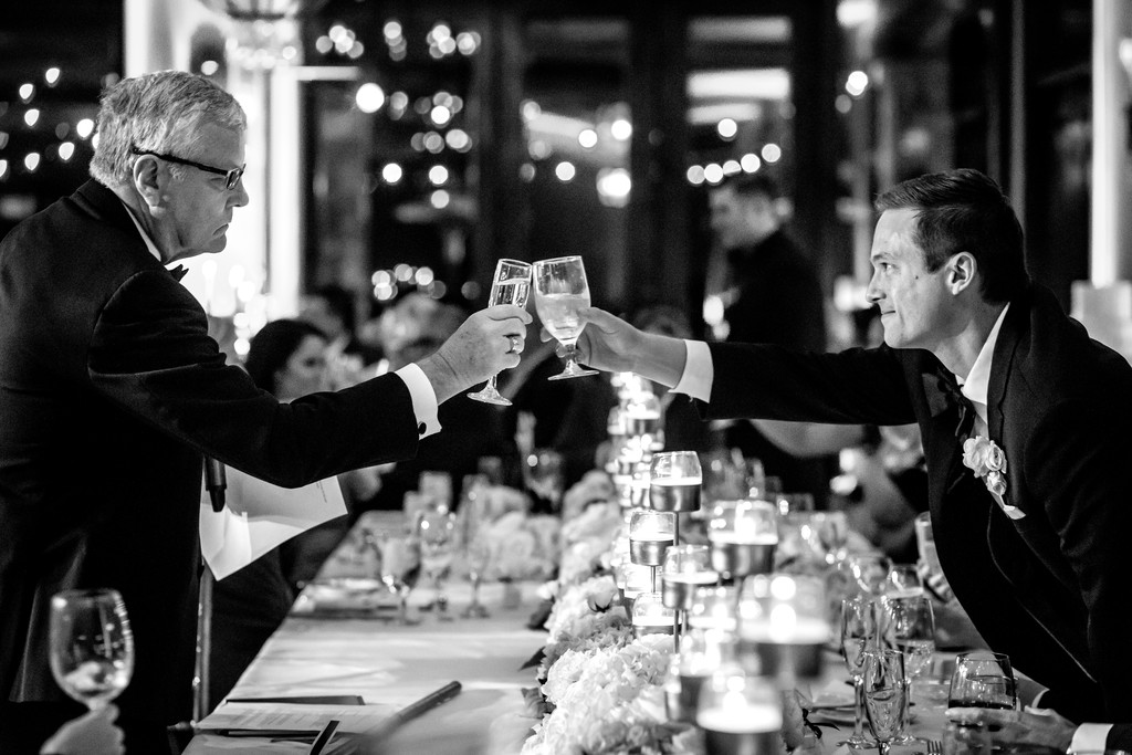 wedding toast photo father son
