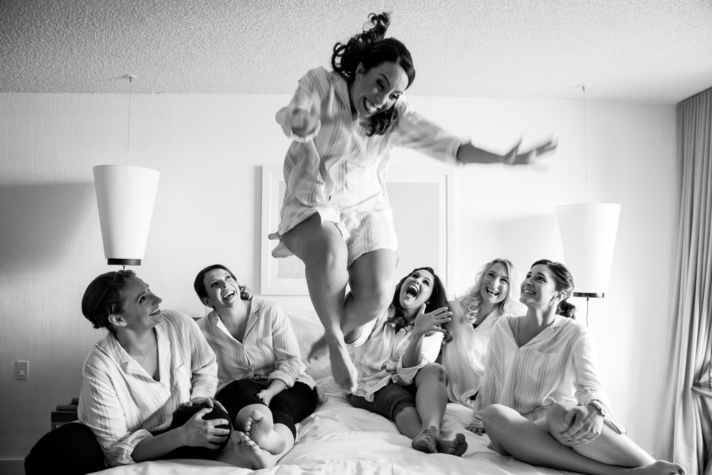 fun bridal photo at Saguaro Hotel wedding in Scottsdale