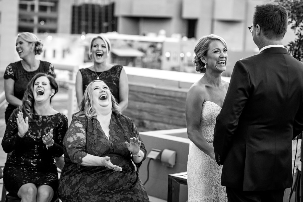 fun wedding ceremony downtown Phoenix Hotel Palomar