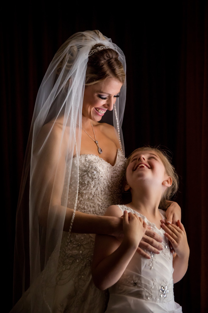 Bridal portrait with flower girl Four Seasons Scottsdale