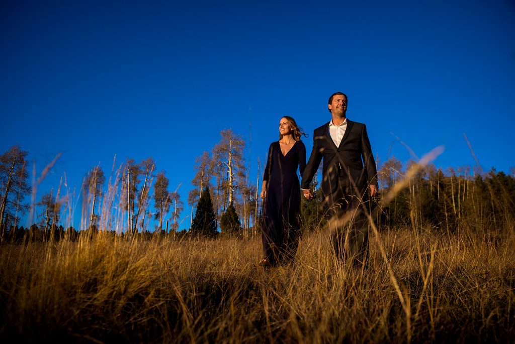 Playful engagement photography Flagstaff