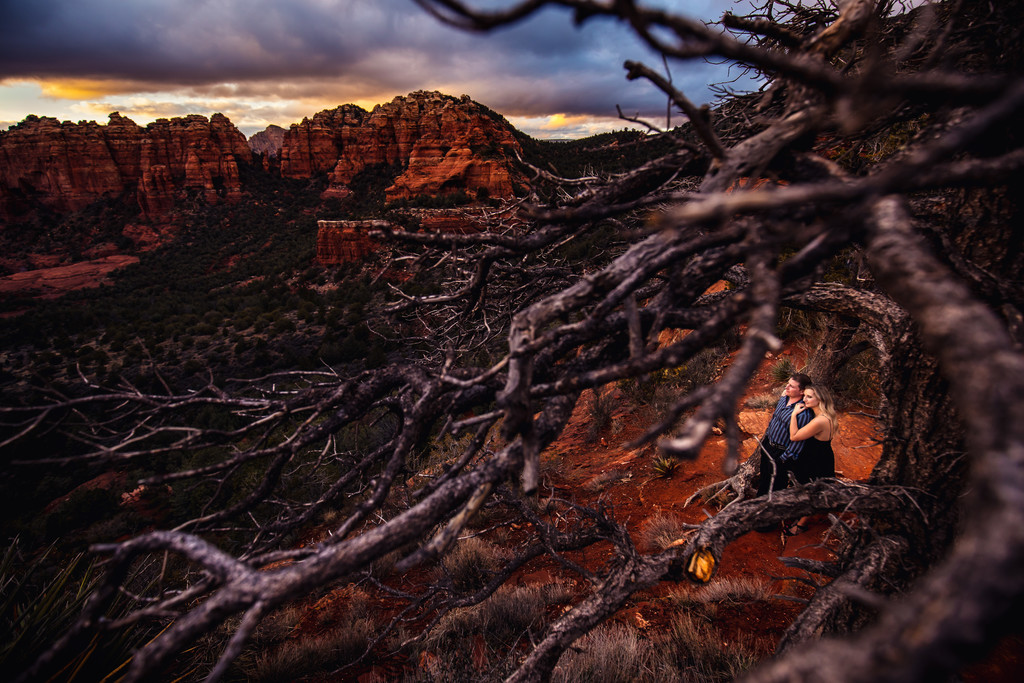 Engagement photography in Sedona