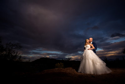 Best Scottsdale Wedding Photographer - Sunset Photo
