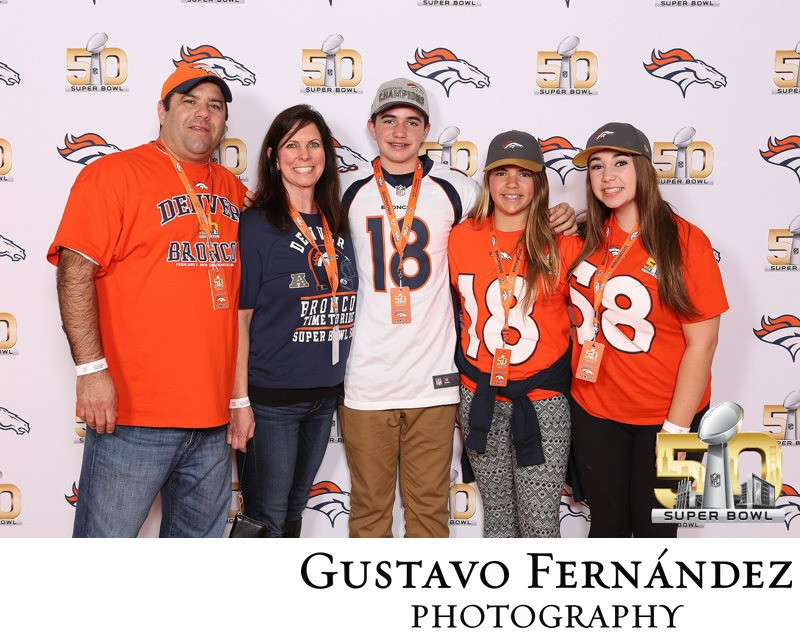 Superbowl Party Step and Repeat Photo Booth