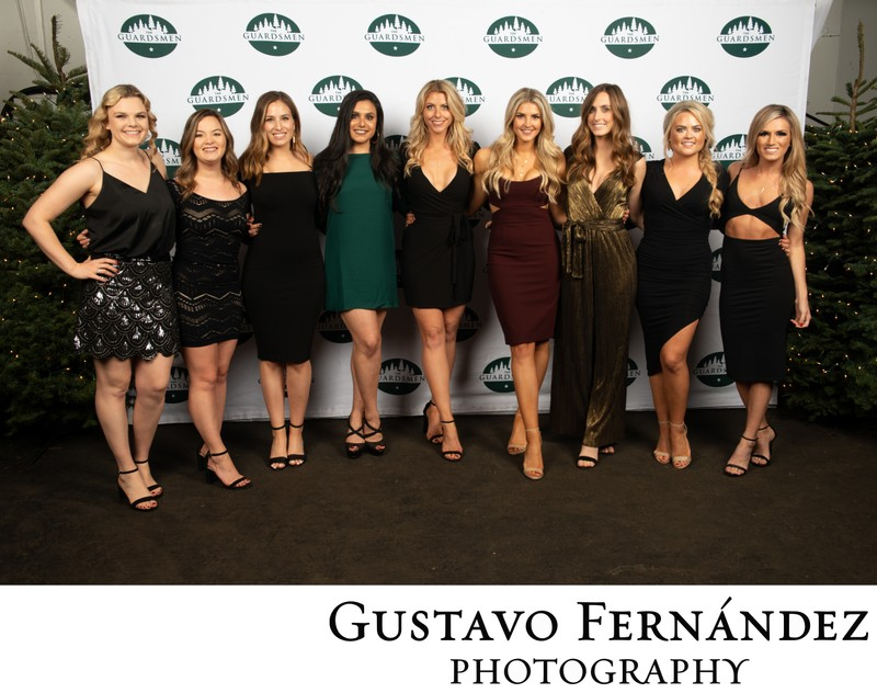 Step and Repeat Group Photographs for Guardsmen